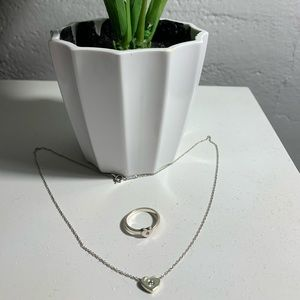 Tiffany necklace & ring set